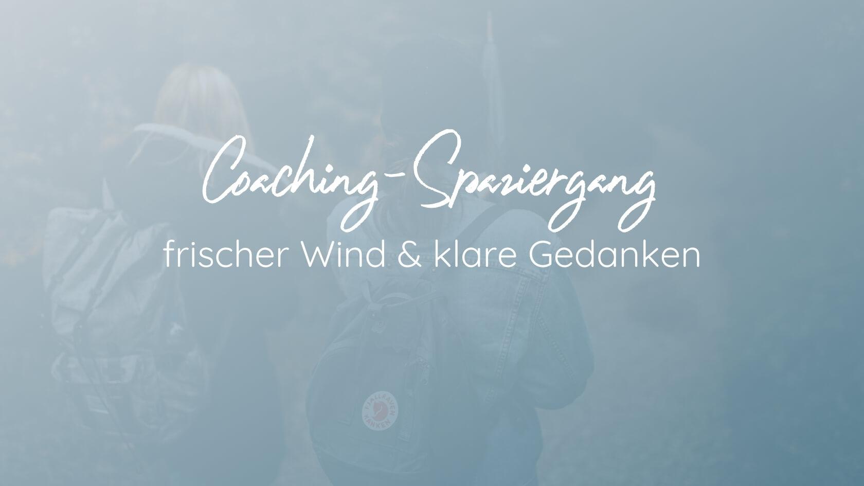 Coaching-Spaziergang: frischer Wind und klare Gedanken